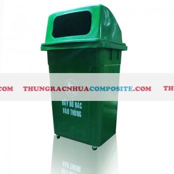 Thùng rác nhựa hdpe 95 lít có bánh xe