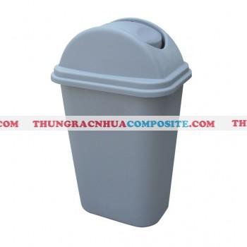 Thùng rác nhựa nắp bập bênh cỡ nhỏ