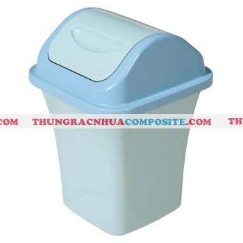 Thùng rác nhựa nắp lật 8 lít
