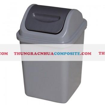 Thùng rác nhựa nắp lật dùng cho văn phòng giá rẻ