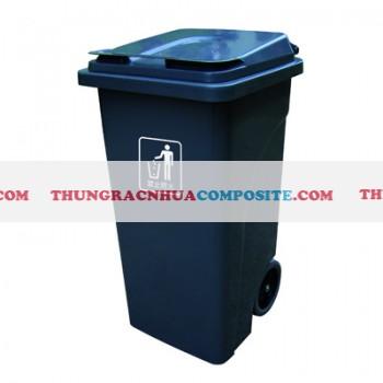 Sọt đựng rác bằng nhựa có bánh xe nắp đậy 100 l 120 lít 240 lit