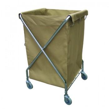 Xe đẩy đồ giặt là nhỏ chữ X bằng inox