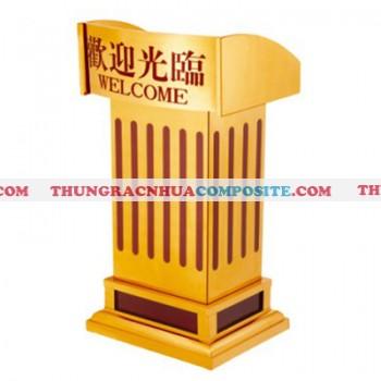 Bục phát biểu bằng Inox mạ vàng