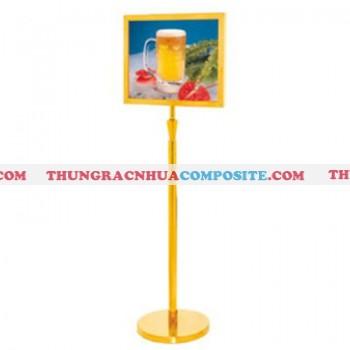 Bảng menu thông tin chỉ dẫn cho khách hàng bằng inox mạ vàng