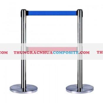 Cột chắn bằng sắt thép không gỉ 2 dây căng