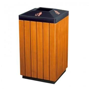 Thùng rác gỗ cao cấp hình vuông