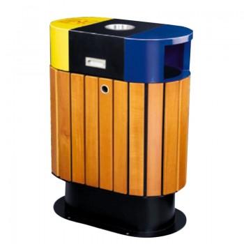 Thùng rác hai ngăn phân loại rác thải ngoài trời