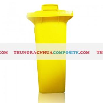 Thùng rác nhựa y tế mầu vàng phân loại rác thải