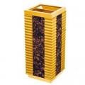 Thùng rác gỗ kết hợp inox mạ vàng