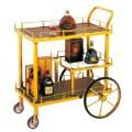 Xe đẩy inox phục vụ rượu 3 tầng