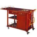 Xe đẩy phục vụ bàn bằng gỗ có bếp ăn di động