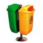 Thùng rác nhựa treo hai ngăn phân loại rác