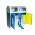 Thùng đựng rác công cộng hai ngăn phân loại rác thải