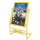 Bảng welcome bằng kim loại mạ vàng