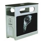 Thùng đựng rác công cộng 2 ngăn có bảng quảng cáo cao cấp