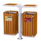Thùng đựng rác đôi 2 ngăn bằng gỗ sang trọng