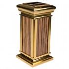 Thùng rác inox giả gỗ mạ vàng