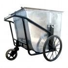 Chỗ mua bán Xe thu gom rác bằng tôn 3 bánh đẩy thu gom rác 500 lít