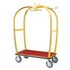 Xe đẩy hành lý khách sạn inox mạ vàng cao cấp