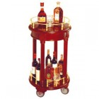 Xe đẩy bầy rượu tròn 2 tầng