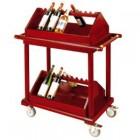 Xe đẩy rượu bằng gỗ di động