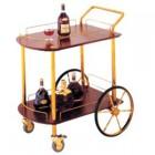 Kệ bầy rượu 2 tầng có bánh xe