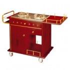 Tủ bếp ga đôi di động chế biến đồ ăn phục vụ tại bàn