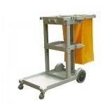Xe đẩy dọn vệ sinh 3 tầng bằng nhựa dùng vệ sinh công nghiệp