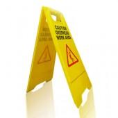 Biển báo bằng nhựa mầu vàng gấp chữ A