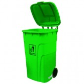 Thùng rác nhựa 120 l 240 lít có nắp đạp chân có bánh xe