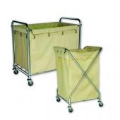 Xe chở đồ vải bẩn giặt là bằng inox và vải không dệt