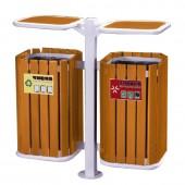 Thùng đựng rác đôi bằng gỗ sang trọng
