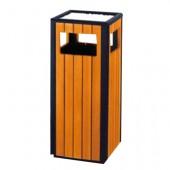 Thùng rác gỗ có gạt tàn ngoài trời