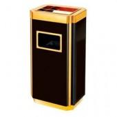 Thùng rác inox sơn tĩnh điện mạ vàng