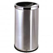 Thùng rác inox có gạt tàn nắp hai ngăn