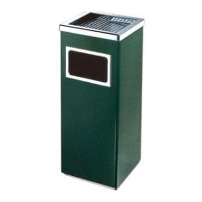 Thùng đựng rác inox vuông có gạt tàn