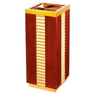 Thùng rác gỗ hình vuông có gạt tàn