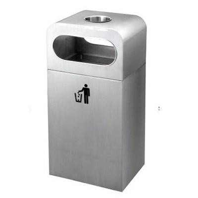 Thùng rác inox có gạt tàn công cộng