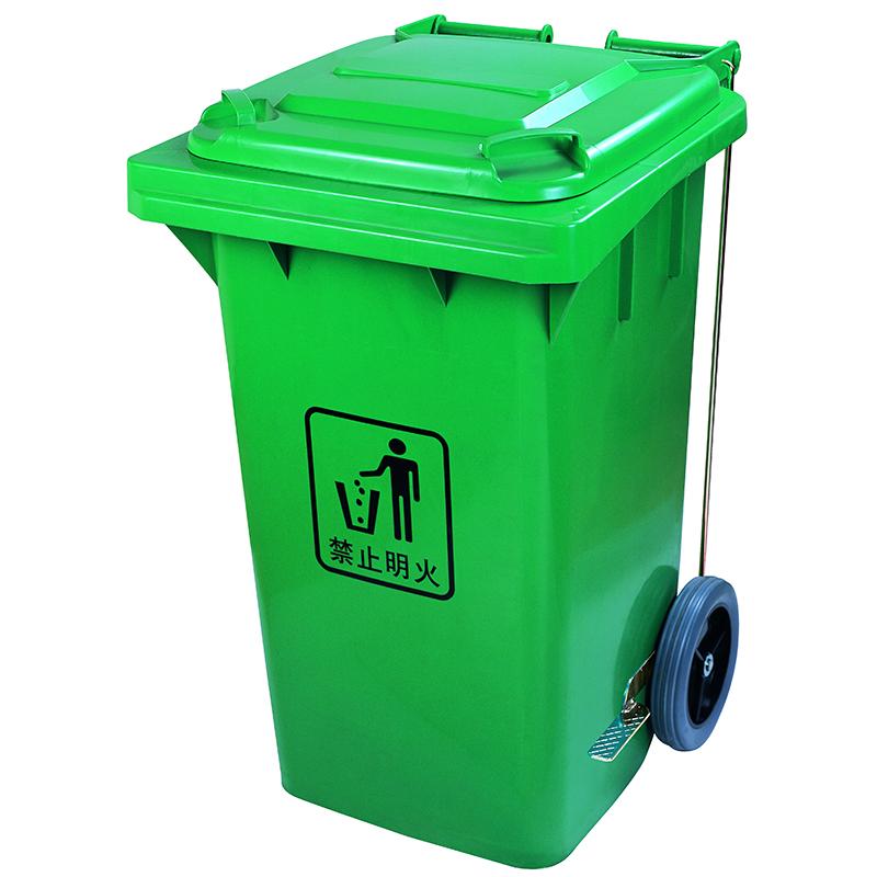 Thùng rác composite công cộng có bánh xe  100 l 120 l 240 lít