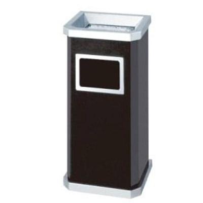 Thùng rác inox có gạt tàn hình chữ nhật