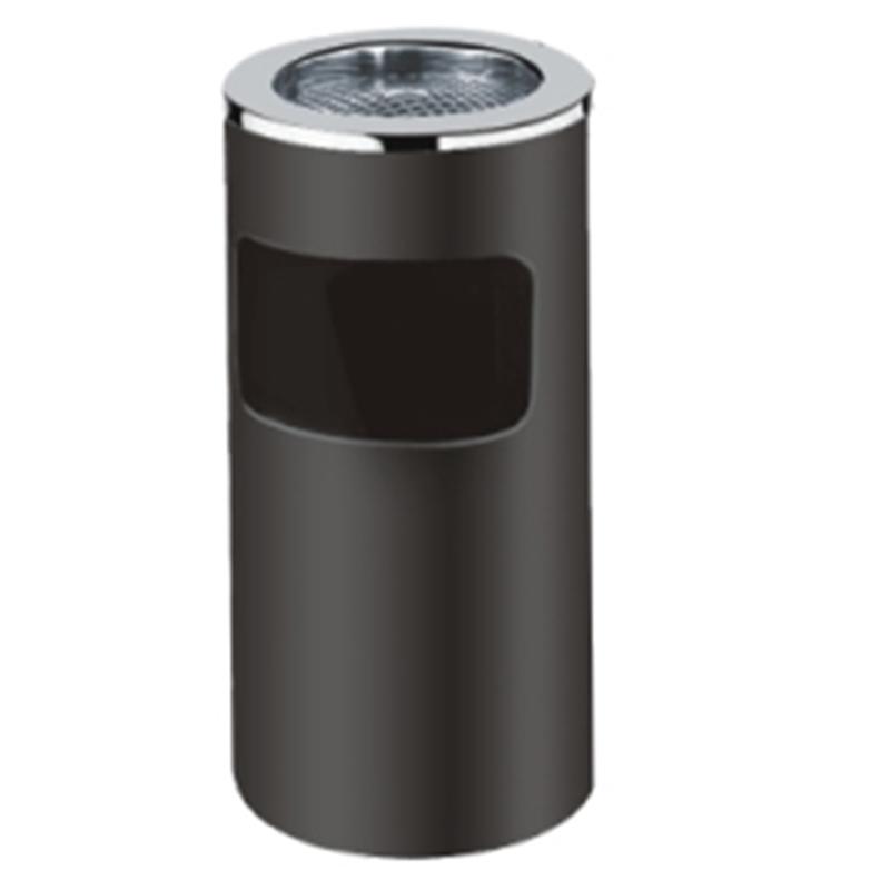 Thùng rác inox có khay gạt tàn hình tròn