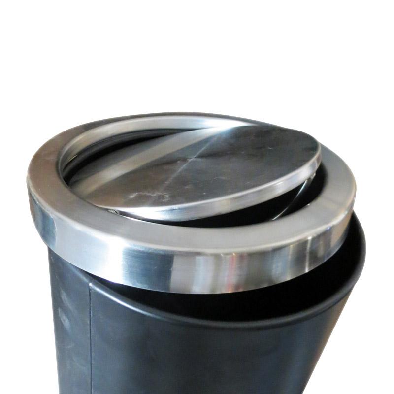 Thùng rác inox hình tròn nắp lật