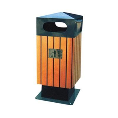 Thùng rác kim loại ốp gỗ